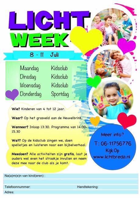 Kidsclub flyer